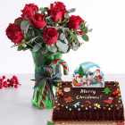 send holiday flower with cake to manila philippines