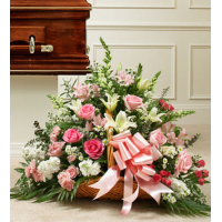 Send Lavishly Pink and White Basket to Philippines