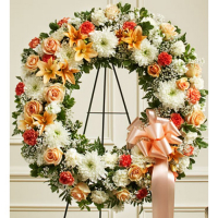Send Rich Gold Wreath to Phillipines