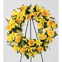 Send Yellow Radiance Wreath to Philippines