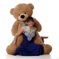 Giant 5 Feet Brown Teddy Bear
