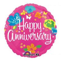 1 Pcs Anniversary Mylar Balloon