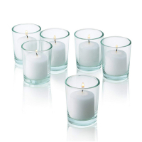 send 6pcs plain white candle in a glass to philippines