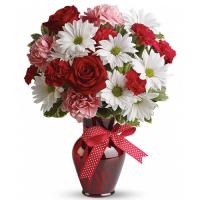 send holiday mixed flower arrangement to manila philippines