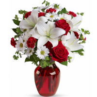 send be my love vase with red roses to manila philippines