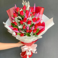 delivery bunch of 24 red roses to philippines