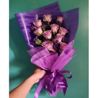 send 10 stems pink color roses bouquet to philippines