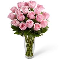send 18 pcs. pink color ecuadorian roses in vase to philippines