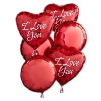 6 pcs I Love You Mylar Balloon