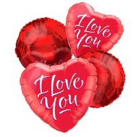 4pcs I Love You Mylar Balloon
