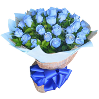 send 24pcs. blue roses in hand bouquet to philippines