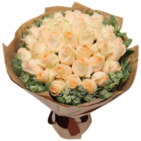 send 24 peach roses in bouquet to philippines