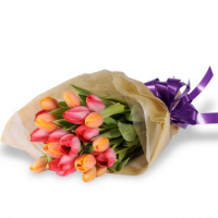 12 mixed color tulip in bouquet to philippines