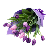 15 purple tulip in a bouquet to philippines