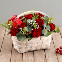 send 24 pcs. red roses in basket for christmas to philippines