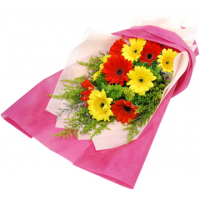 send red and yellow gerberas in bouquet to philippines