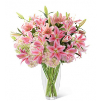 Send pink lilies in vase to philippines
