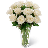 send 12 white roses in vase to philippines