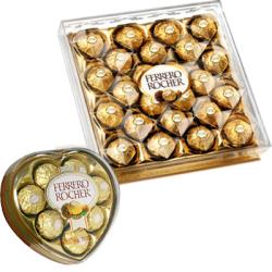 Ferrero Rocher Heart Shape and 24 pcs Box