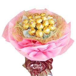 ferrero pink bouquet send to philippines