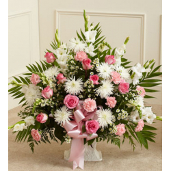 Send Flamingo Sympathy Basket to Philippines