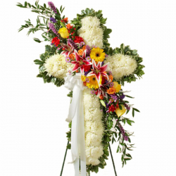 Send Luxurious Funeral Cross Flowers to Philippines