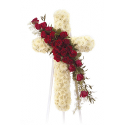 Send Standing Cross Sympathy Spray to Philippines