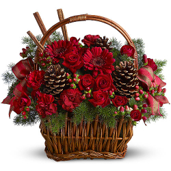 Christmas Flowers Basket Send to Philippines