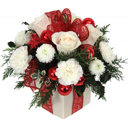 White Christmas Flowers Send to Philippines