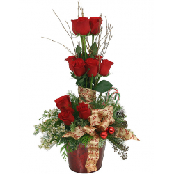 Christmas Rose Topiary Send to Philippines