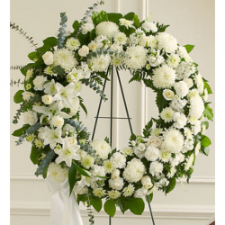 Send Heavenly Whites Wreath to the Philippines