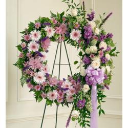 Send Luxurious Purple Wreath to Phillipines