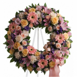 Send Soft Delicate Shades Wreath to Phillipines