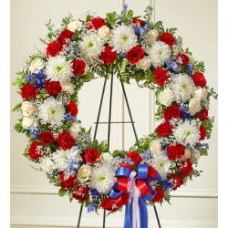 Send Patriotic Funeral Wreath to Phillipines