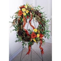 Send Flourishing Garden Wreath to Phillipines