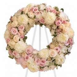 Send For the Love of White and Pink Wreath to  Phillipines