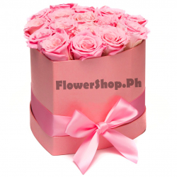 buy 12 pink heart shaped roses in philippines