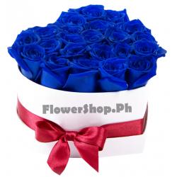 buy 24 blue heart shaped roses in philippines