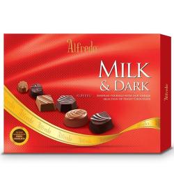 send alfredo milk and dark chocolate box 110 g. to philippines