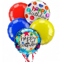 5 pcs Birthday Mylar Balloon