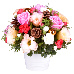 send christmas mixed flower in a pot to philippines