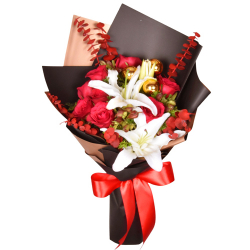 send christmas mixed flower in a bouquet to philippines