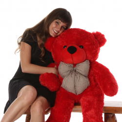 4 feet Giant Red Color Teddy Bear