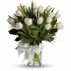 send 15 white tulips to philippines