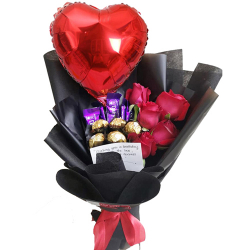 send chocolate with roses and balloon to philippines
