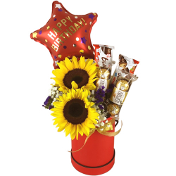 send a box full of chocolate flower and balloon to philippines