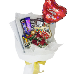 send roses balloon and choco in bouquet to philippines