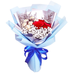 send roses with chocolate in bouquet to philippines