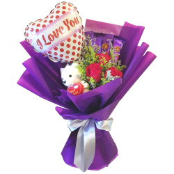 online delivery roses choco bear and balloon to philippines