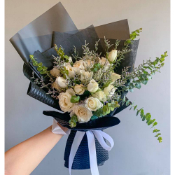 send 18 pcs. peach color roses in bouquet to philippines